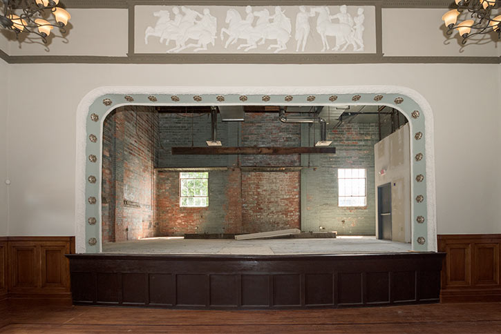 Olney mansion art gallery stage