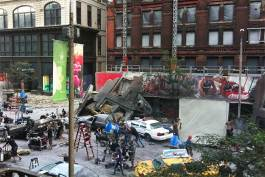 Set of the Avengers on E 9th