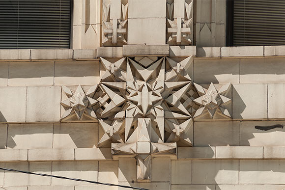 Exterior detail of the Standard Building
