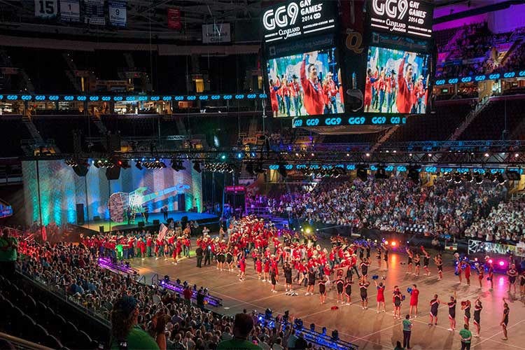 Image from the Gay Games opening ceremonies featured in Chapter Two