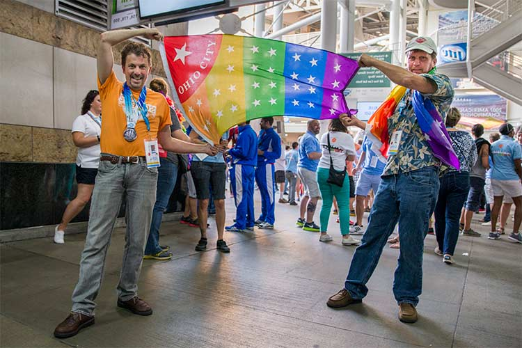 Image from the Gay Games opening ceremonies featured in Chapter One