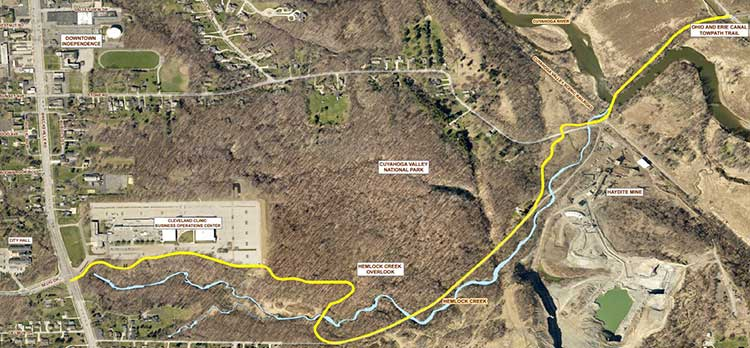 Hemlock Creek Trail will connect Independence to CVNP, Towpath Trail