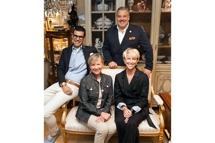 Neue Auctions team: Ricardo Bernabe, Ron Greenwald, Cynthia Maciejewski and Bridget McWilliams