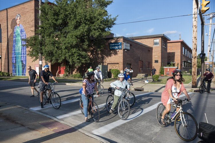A stop at Karamu House on the Ride + Learn: The Future of Fairfax bike tour