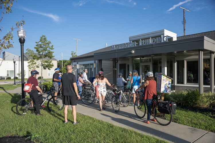 A stop at Griot Village on the Ride + Learn: The Future of Fairfax bike tour