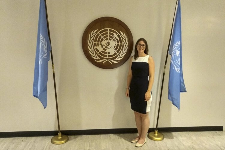 Elena Stachew was one of 500 youth leaders chosen to attend the UN Youth Climate Summit.