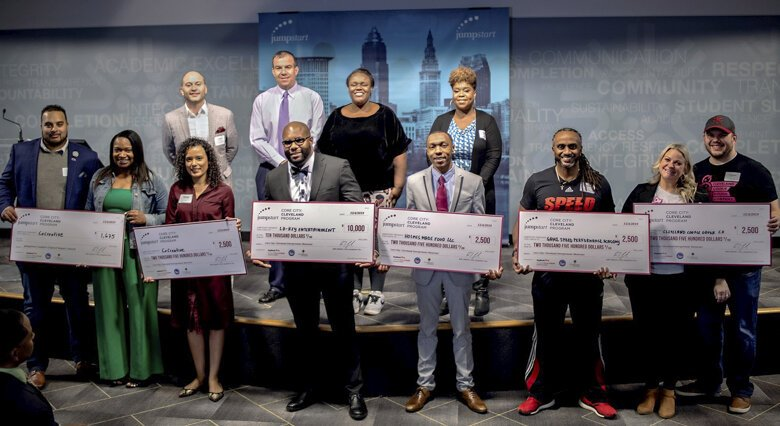 Winners of the Core City: Cleveland Impact Program pitch event are ready to celebrate Dec. 4.