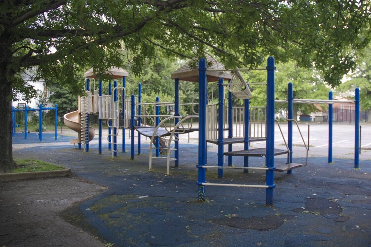 Allstate and the Fairfax Renaissance Development Corporation worked together to build a playground