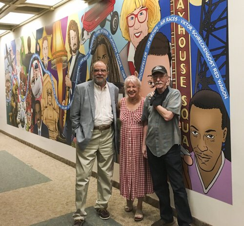Gary, Laura and Bill Barrow, who is the director of the Special Collections room and the Cleveland Memory Project.