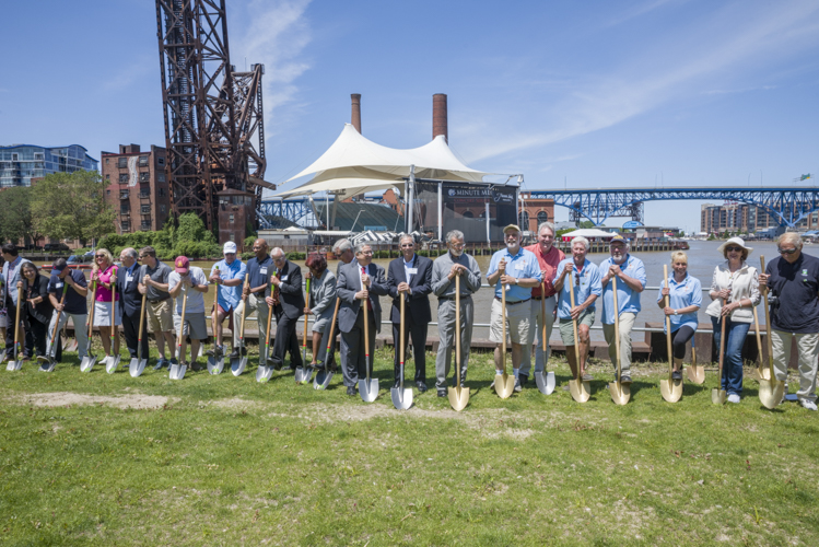 Towpath Trail Groundbreaking at Settlers Landing