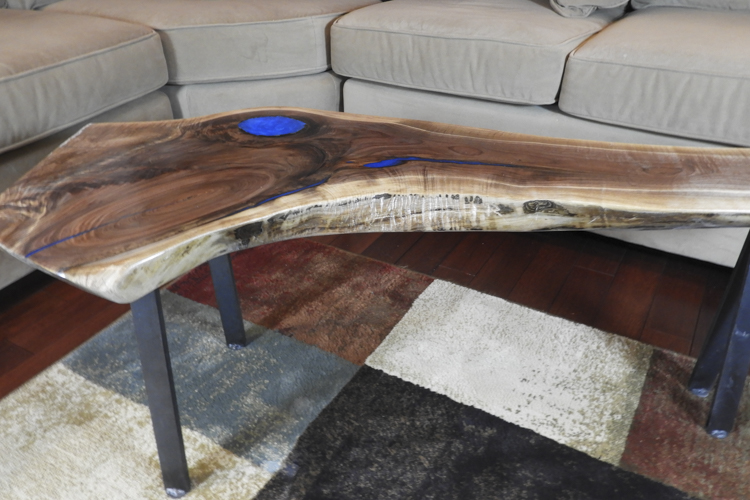 Blue Expoxy Coffee Table