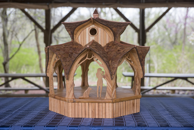 Architectural model of the new gazebo to be constructed at the Nature Center at Shaker Lakes