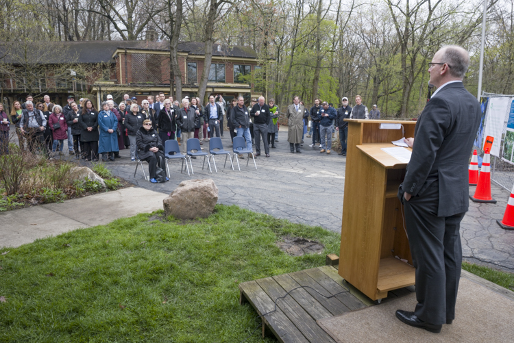 Nature Center at Shaker Lakes capital improvement construction project groundbreaking event