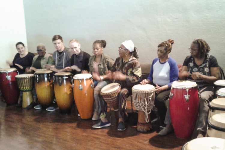 Mama Fasi's drum lesson