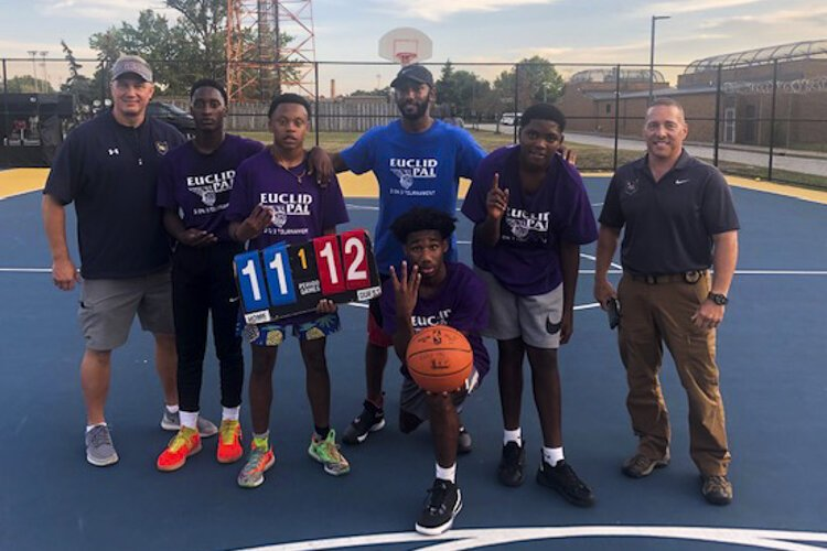 Euclid youth at Memorial Park courts