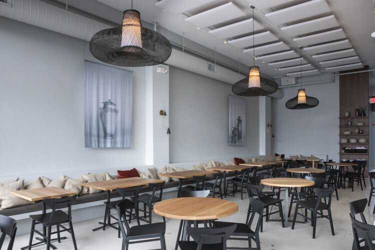 Chef Douglas Katz said they used the bones of the building as the focus, and then really modernized the inside with cool features, all hand crafted by local artisans.