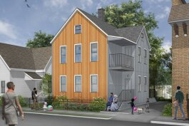 This rendering shows the plan for 6401 Bonna Ave. in Cleveland's St. Clair-Superior neighborhood.