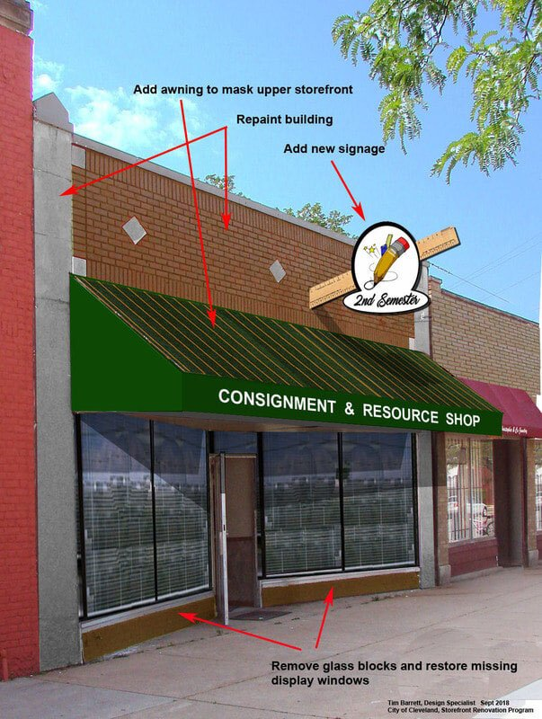 Monica Grays has ambitious plans to renovate the front of her Collinwood resale shop.