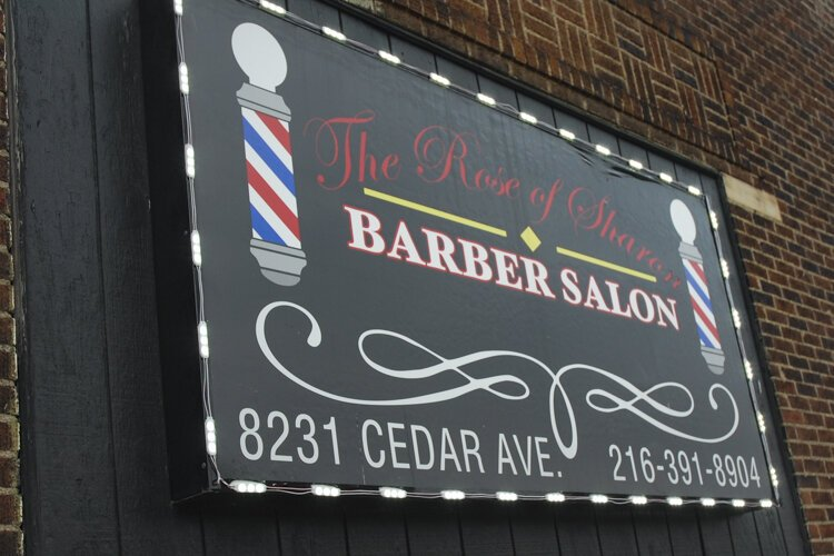 The Rose of Sharon Barber Salon opened in 2011 in Cleveland's Fairfax neighborhood.