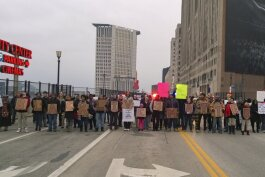 A Black Lives Matter protest in Cleveland in 2014.