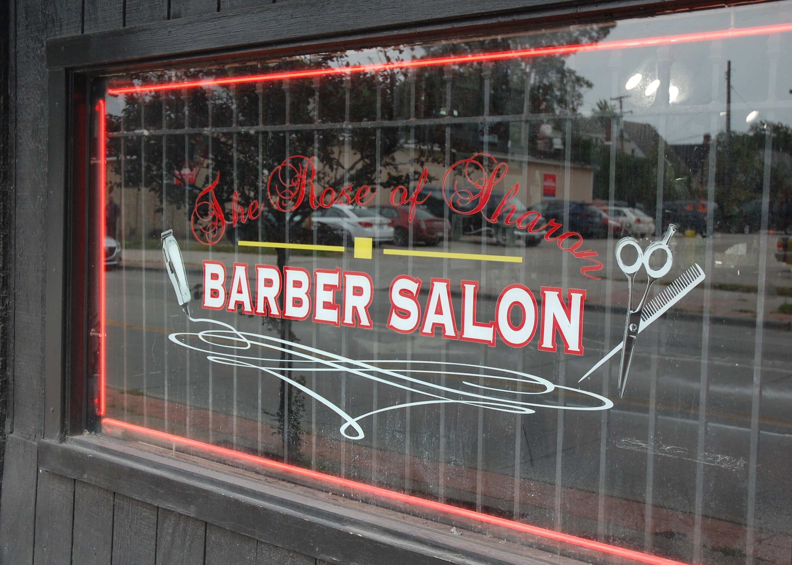 The Rose of Sharon Barber Salon is at 8231 Cedar Ave. in Cleveland's Fairfax neighborhood.