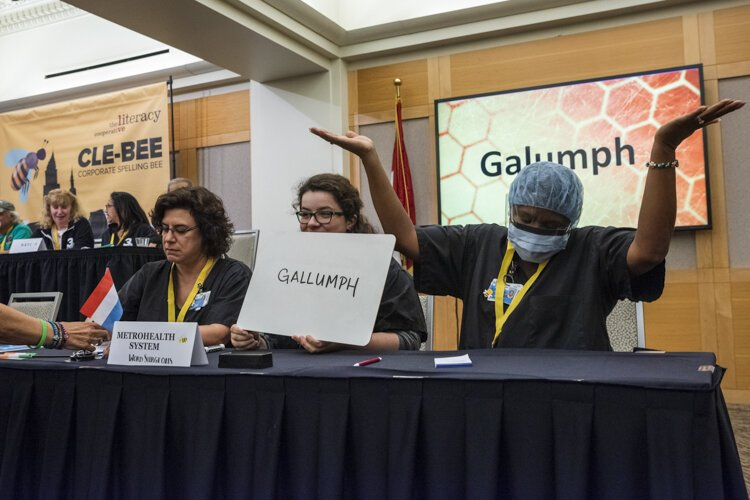 "Unfortunately, The MetroHealth System team misspelled the word  ""galumph."""