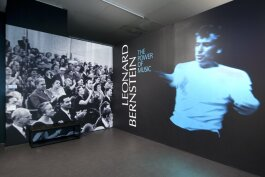 Leonard Bernstein: The Power of Music exhibition introduction wall.