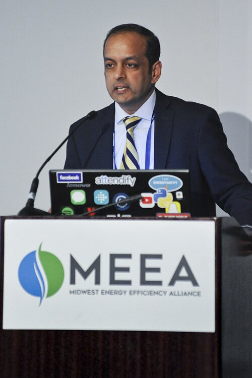 Anand Natarajan, energy manager of the Mayor's Office of Sustainability of the city of Cleveland.