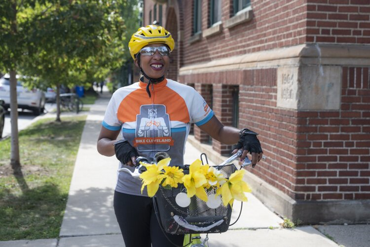 Deltrece Daniels, outreach coordinator at Bike Cleveland.