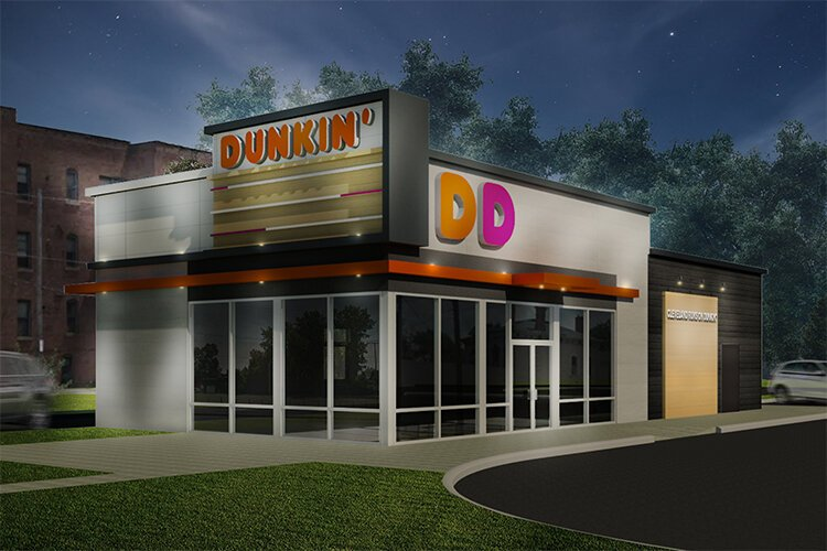 This artist's rendering shows the new Dunkin' Donuts' store opening by the end of the year at 8000 Carnegie Ave.