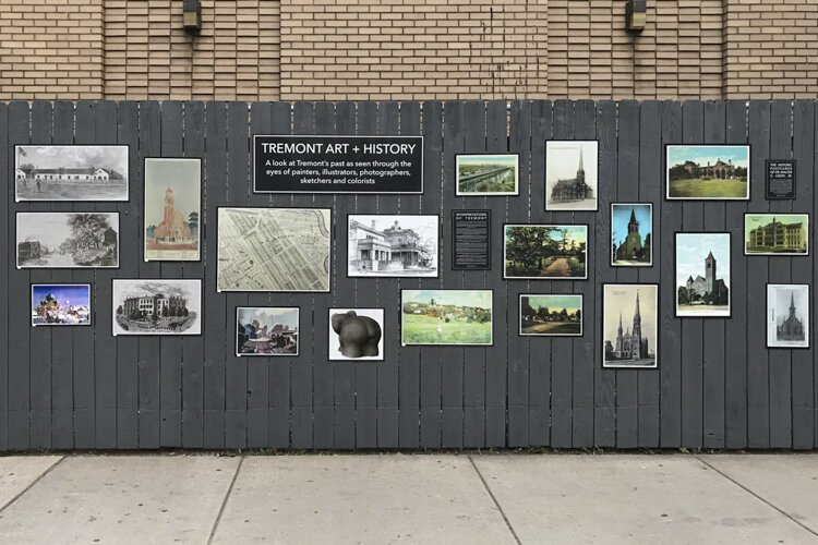 The outdoor Art + History Museum showcases more than 40 historic images of Tremont.