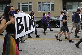 "Scenes from the ""LGBTQ+ March to Support Black Lives"" on 6/27/20"