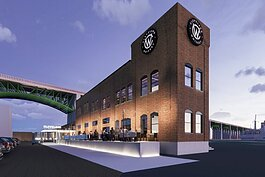 Rendering of the building as home to Cleveland Whiskey