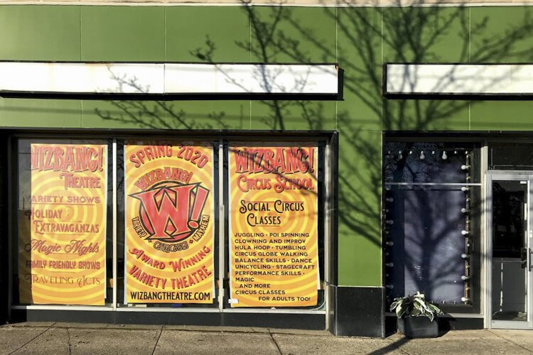 In late April or early May, Wizbang will move into a permanent home, in the former Kaleidoscope Theater space, in the former Kalliope Stage space in Cleveland Heights.