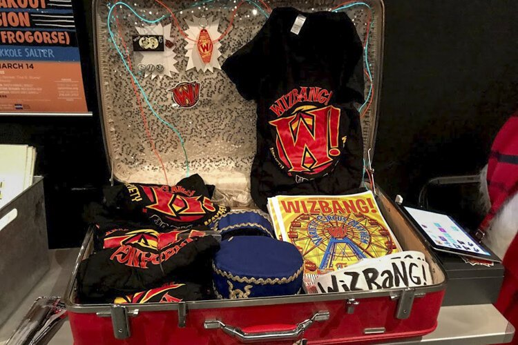 Wizbang merchandise for sale Feb. 1 at Cleveland Public Theater.