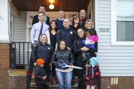 The City Mission's New Horizons program home was unveiled to Star and her children  Friday, Dec. 20, with a ribbon-cutting ceremony.