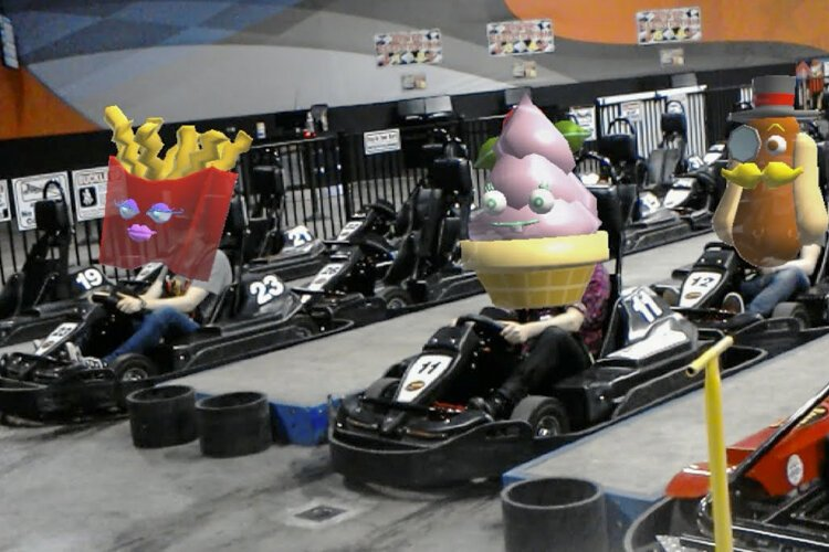 Go-karting enters a new dimension with augmented reality technology.
