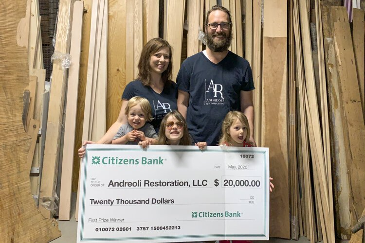Andreoli Restoration recently won an award from Citizens Bank as a Community Champion