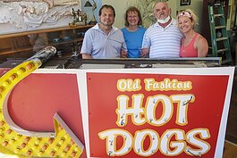 Old Fashion Hot Dog owners Loretta and Tom Sorma (left
