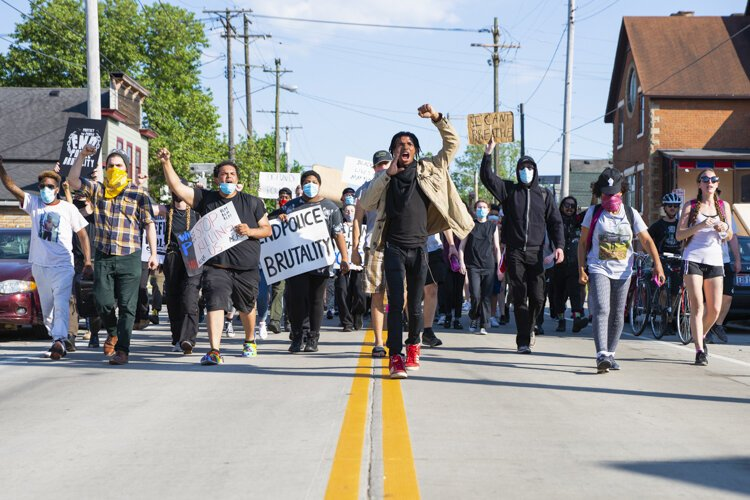 More than 1,500 people gathered outside the Cleveland Police Second District Precinct on June 6, 2020 to demand justice for Desmond Franklin, the 22-year-old man who was shot and killed by an off-duty police officer in April.