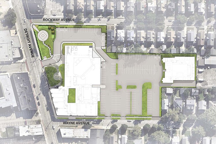 Beck Center for the Arts rendered site plan.