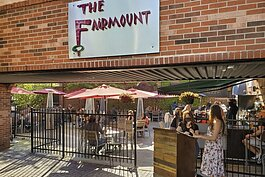 The tables are spaced at least six feet apart at The Fairmount, and guests were spaced out on the patio that normally seats about 85 but has been reduced to 60.