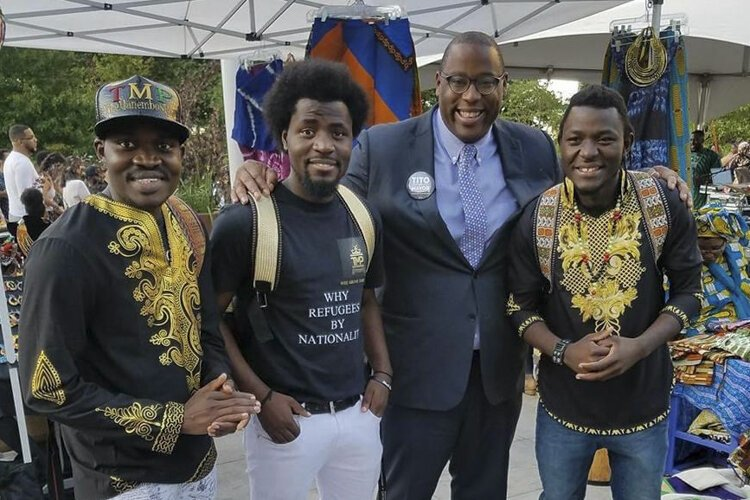Real Mane TMP with Boston City Council members following a performance.