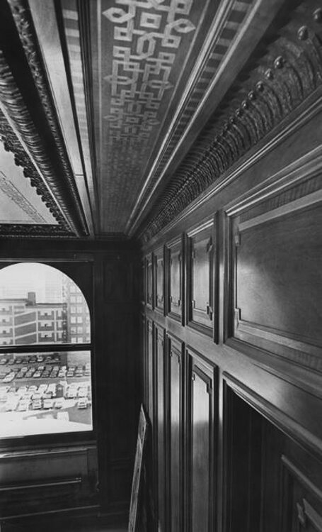 The cherry paneling in Samuel Mather's Office in the Western Reserve Building - 1976