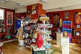 The interior of The Headshop in Clark-Fulton