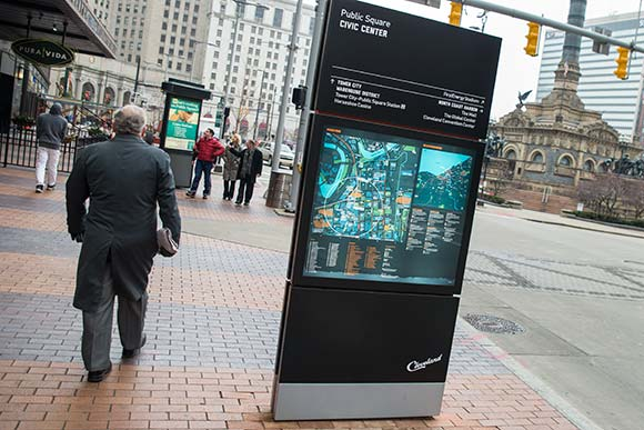 Prototype  visitor navagation map on Euclid Ave