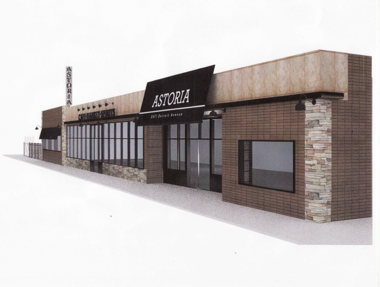 Rendering of Astoria Mediterranean shop and tapas cafe