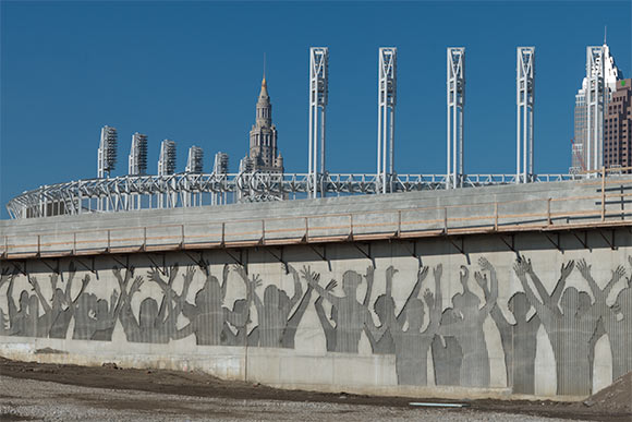 Crowd Wall on The George V. Voinovich Bridge