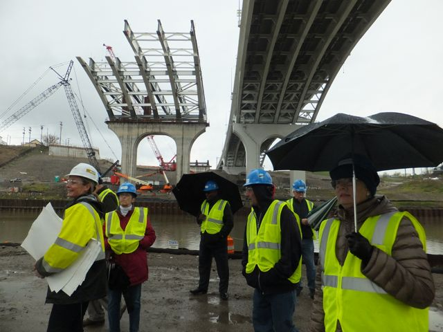 George Voinovich Bridge construction tour