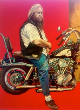 Edgy show captivates with vintage motorcycle images